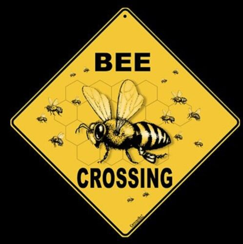 "BEE Aluminum Crossing Sign, 12"" on sides, 16"" on diagonal"