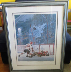 """Signed & numbered """"Goal of the Century"""" print with C.O.A."""
