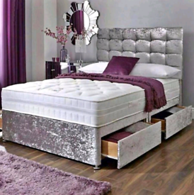 COMFY DIVAN bed set with luxury mattress and FREE MATCHING HEADBOARD