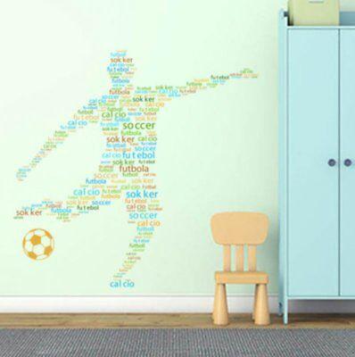 Wandtattoo Wandsticker Fußball Kinderzimmer Bundesliga Spieler Junge  #131