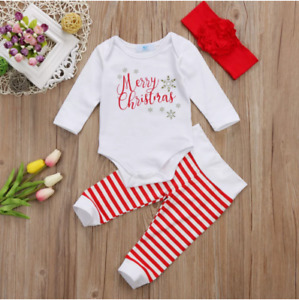3 PCS Newborn Christmas outfit