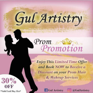 PROMOTION ON HAIR & MAKEUP SERVICES