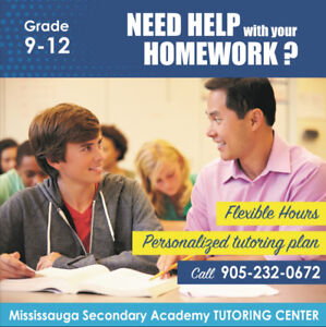 Best Tutoring for Grade 9 to 12 in Mississauga