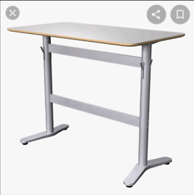 Ikea standing office desk, breakfast bar idea