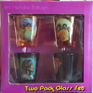 Jimi Hendrix Collectors Box Set Shot Glasses Surreal RARE