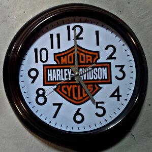 "VINTAGE STYLE HARLEY DAVIDSON 16"" INCH WALL CLOCK"