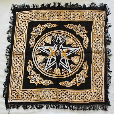 "NEW Pentagram Goddess Altar Cloth 18"" x 18"""