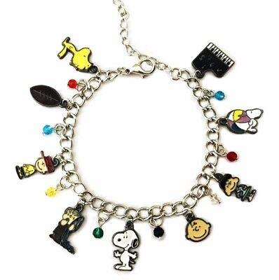 Snoopy & Friends Peanuts Theme Silvertone Charm Bracelet ()