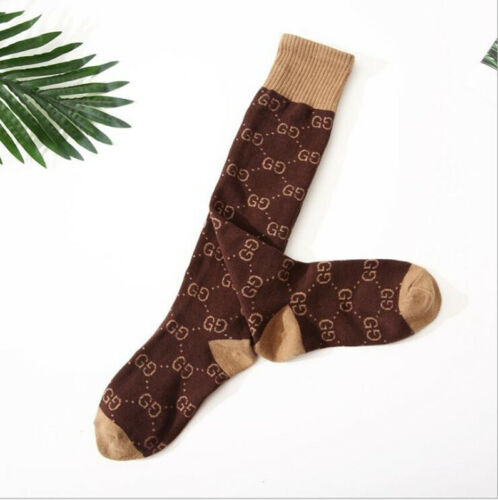 HOT! Cotton G+ G Brown  Socks Design One Size Fits 100%NEW   AAAAAA+