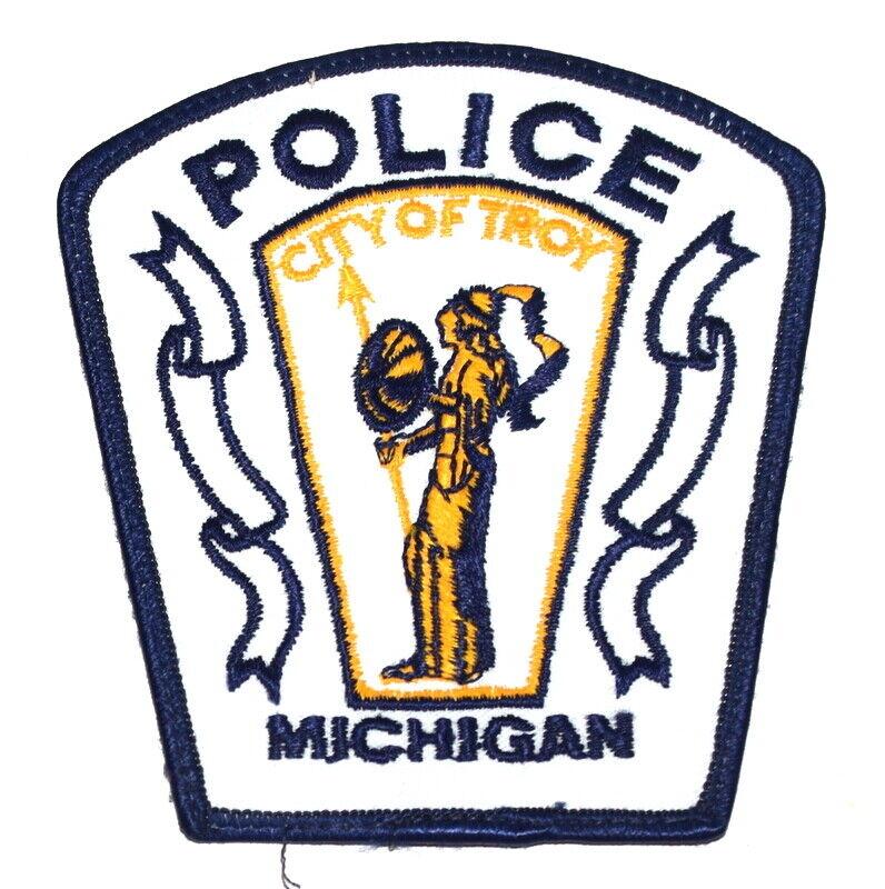 TROY MICHIGAN MI Sheriff Police Patch HELEN OF TROY WHITE ~
