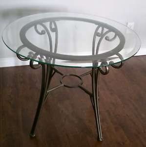 Glass End Table.