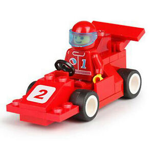LEGO COMPATIBLE: RED RACE CAR - NEW!!!