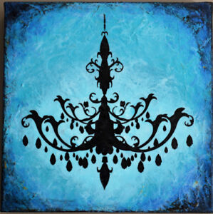 Chandelier small - original painting