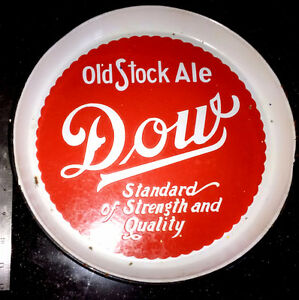 1930s DOW Old Stock Ale Beer Porcelain Bar Serving Tray Montreal