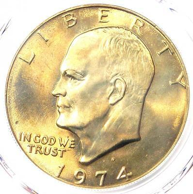 Click now to see the BUY IT NOW Price! 1974 D EISENHOWER IKE DOLLAR $1 CERTIFIED PCGS MS67    IN MS67. $3,150 VALUE