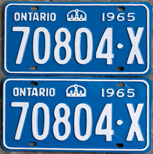 YOM Licence Plates For Your Old Auto - Ministry Guaranteed! Cornwall Ontario image 7