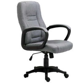 Swivel Office Desk Chair Grey Fabric