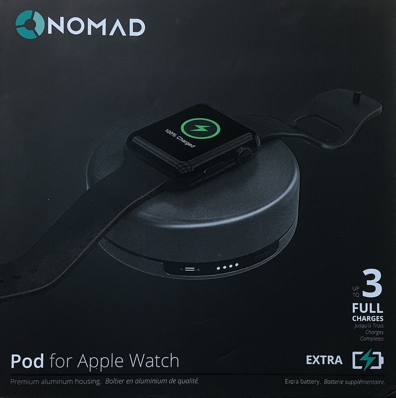 Nomad Charging Pod for Apple Watch - (pod-apple-sg-001) - Space Gray - New Other