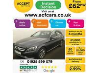 2015 GREY MERCEDES C220 2.1 BLUETEC SPORT DIESEL ESTATE CAR FINANCE FROM 62 P/WK