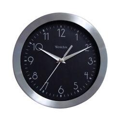 NEW! WESTCLOX Wound Wall Clock 9 Aluminum 36001