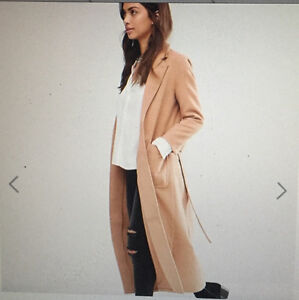 Brand New Asos Long Belted Coat Size 4