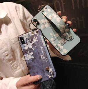 Wrist Strap Magnolia Soft iPhone 8 plus and 7 plus case