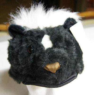 Coonskin Cap Halloween Costume (coonskin SKUNK HAT tail Halloween COSTUME head mask cap PLUSH furry pepe le)