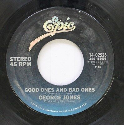 Country 45 George Jones - Good Ones And Bad Ones / Still Doin' Time On