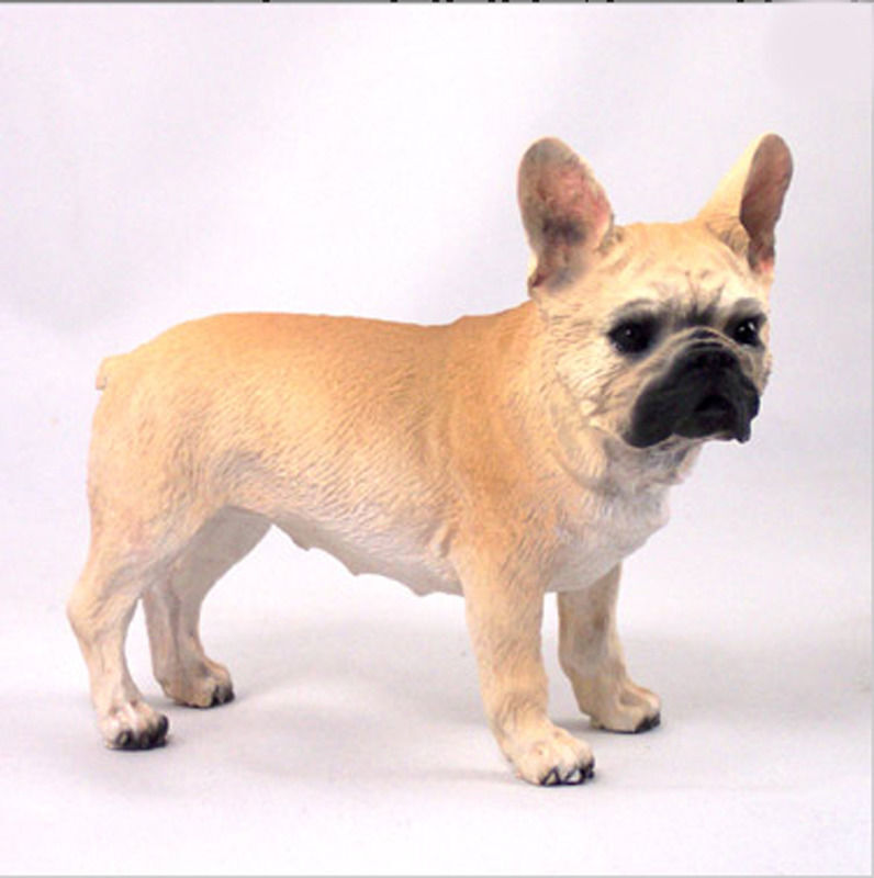 French Bulldog Figurine Hand Painted Collectible Statue Fawn
