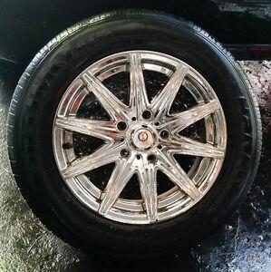 4 mags ixion 15'' + pneus d'été/summer tires (195-65-15), Bolt P