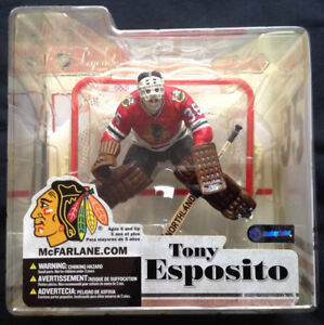 Rare Tony Esposito Hockey Legends Series 3  Mcfarlane Figure