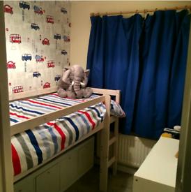 Mid sleeper shorty cabin bed