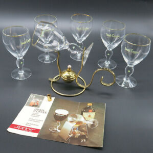 Vintage 70s Irish Coffee Set by SPRING with 6 glasses & warmer