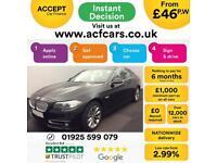 2014 BLACK BMW 520D 2.0 MODERN DIESEL AUTO 4DR SALOON CAR FINANCE FR £46 PW