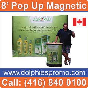 NEW Trade Show Magnetic Pop Up Booth PACKAGE + Podium + Lights