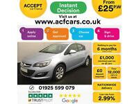2015 SILVER VAUXHALL ASTRA 1.6 CDTI DESIGN DIESEL 5DR HATCH CAR FINANCE FR £25PW