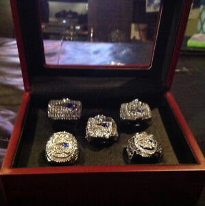 5 Tom Brady Superbowl Rings With Display Box