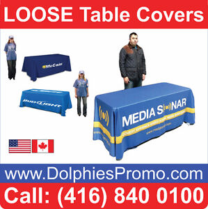 Custom Printed 4-Sided Dye Sublimation Tablecloth Table Cover