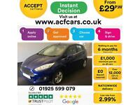 2016 BLUE FORD FIESTA 1.5 TDCI ZETEC 75 DIESEL 5DR HATCH CAR FINANCE FR £29 PW