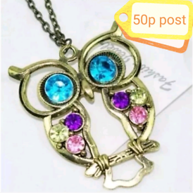 Jewellery Accessory Necklace Woman's Women's Gold Owl Chain