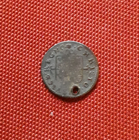 CAROLVS II Charles 2nd hammered half groat 2 pence coin