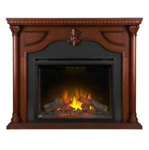 The Aden Electric Fireplace Mantel Package by Napoleon