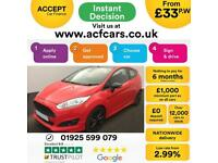 2016 RED FORD FIESTA 1.0 ECOBOOST RED EDITION ZETEC S 3DR CAR FINANCE FR £33 PW