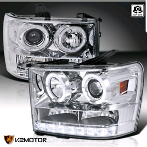 2007 to 2014 GMC Sierra projector/led headlights new in box