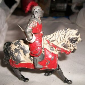Vintage Metal Knight and Horse