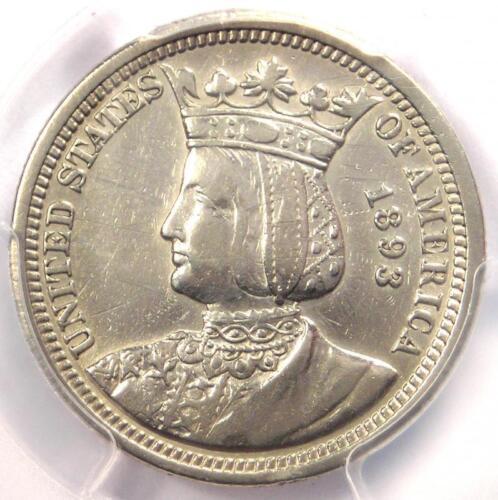 1893 Isabella Quarter 25C - PCGS XF Details - Rare Certified Commemorative Coin
