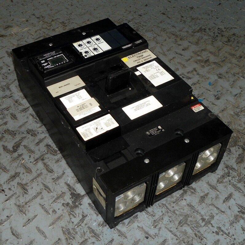 SQUARE D 3-P ELECTRONIC TRIP CIRCUIT BREAKER 800A SENSOR MXL36450 / ARP056 *PZB*