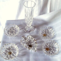 REDUCED PRICE---MOVING---6 Genuine Lead Crystal Glass Pieces