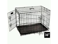 Brand new Pet Cage 36 Inch Dog Animal Crate Home Folding Metal 2 Door Training Kennel