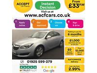2016 SILVER VAUXHALL INSIGNIA 1.6 CDTI DESIGN DIESEL SALOON CAR FINANCE FR £33PW